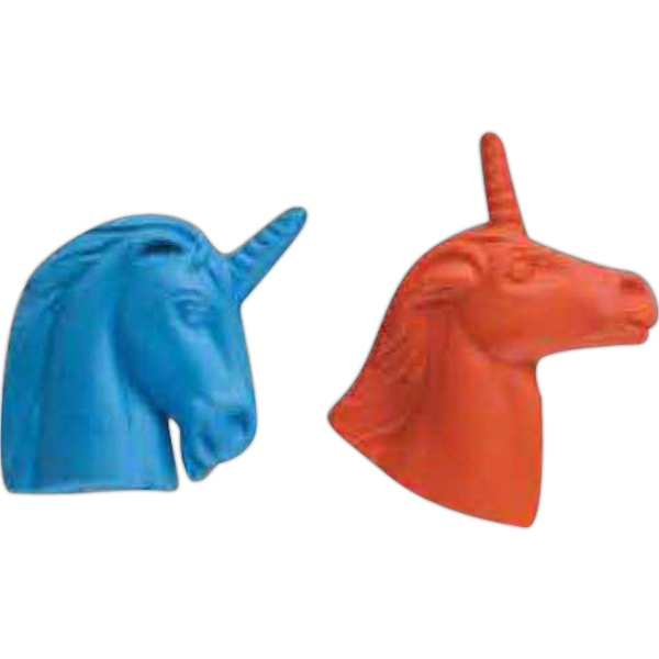 Imprinted Unicorn Head Pencil Top Eraser