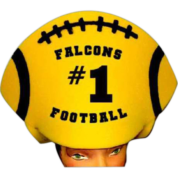 Imprinted Foam Visor Headwear - Football