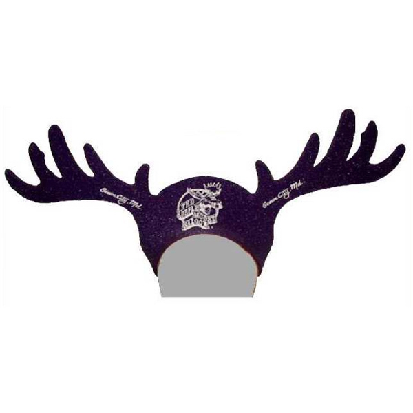 Customized Foam Visor Headwear - Moose Horns