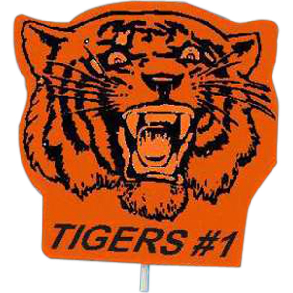 Personalized Mascot on a Stick - Tiger