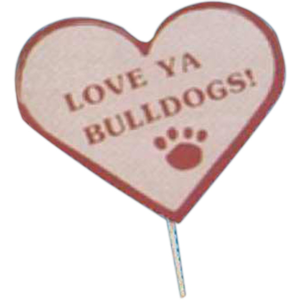 Personalized Mascot on a Stick - Heart