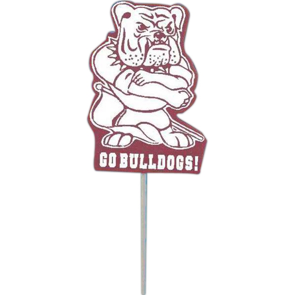 Promotional Mascot on a Stick - Bulldog
