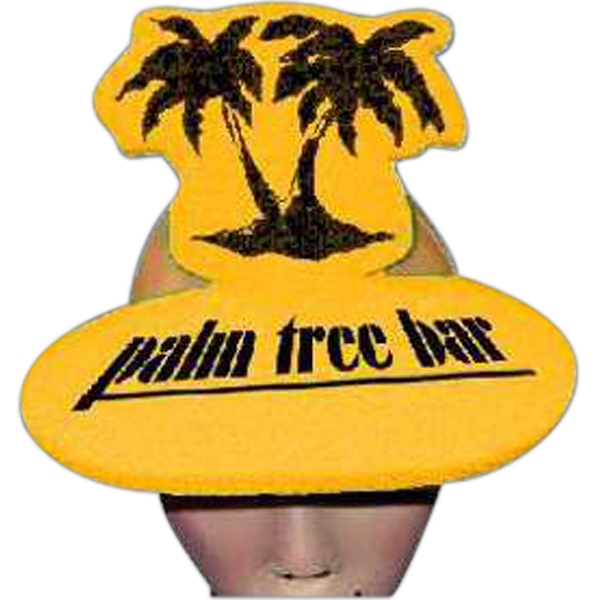 Customized Palm Trees Foam Pop-Up Visor