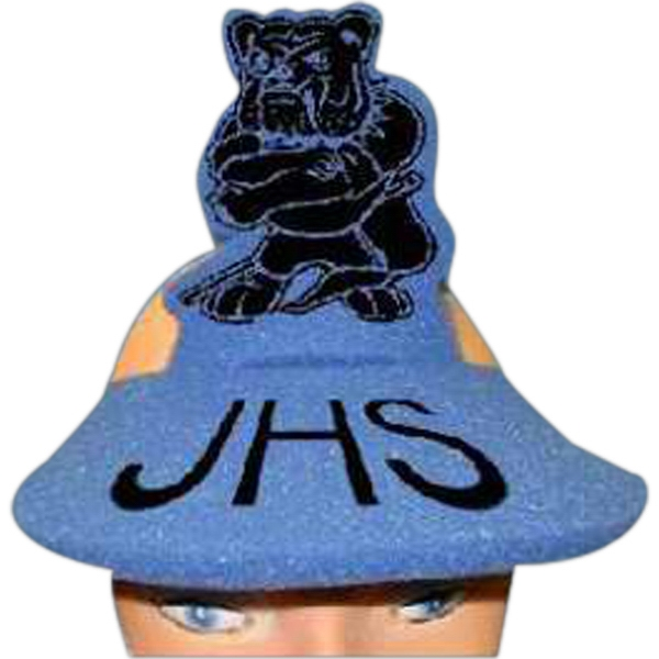 Personalized Standing Bulldog Foam Pop-Up Visor