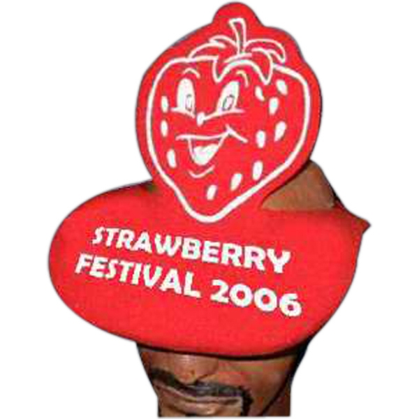 Promotional Strawberry Foam Pop-Up Visor