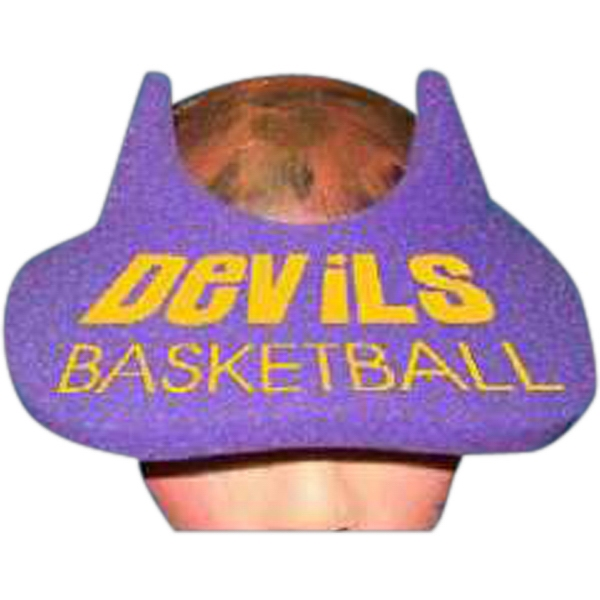 Printed Devil Horns Foam Pop-Up Visor