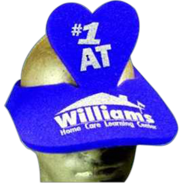 Personalized Heart Foam Pop-Up Visor