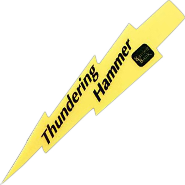 Personalized Foam Lightning Bolt Spirit Waver (TM) - 24""