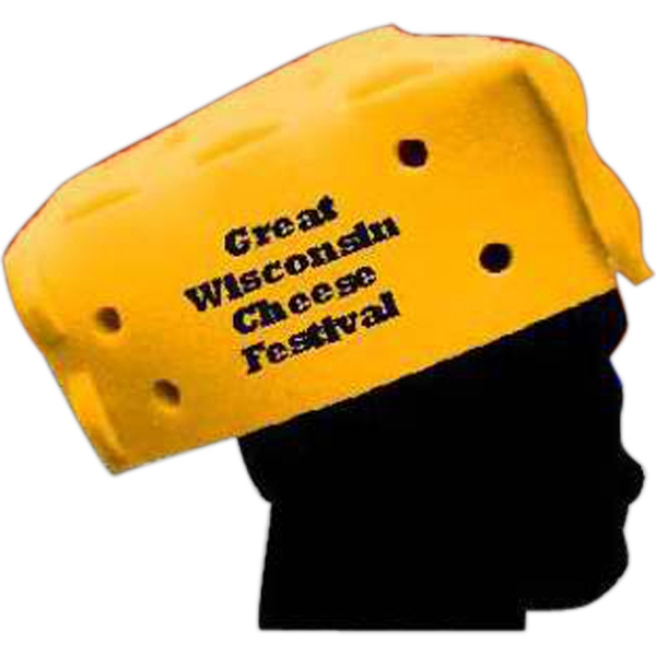"Personalized 7"" Foam Cheese Hat"