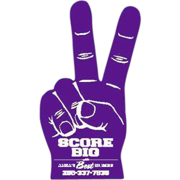 Imprinted Foam Victory Hand