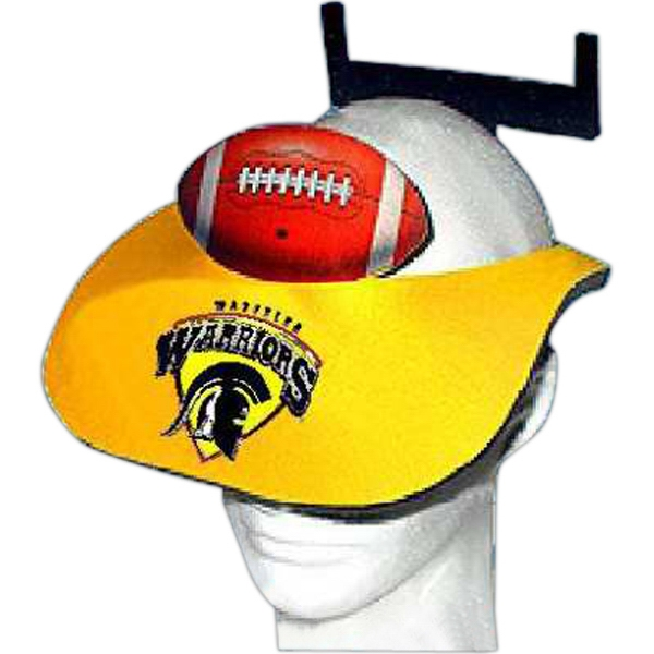 Personalized Foam Football and Goalpost Visor