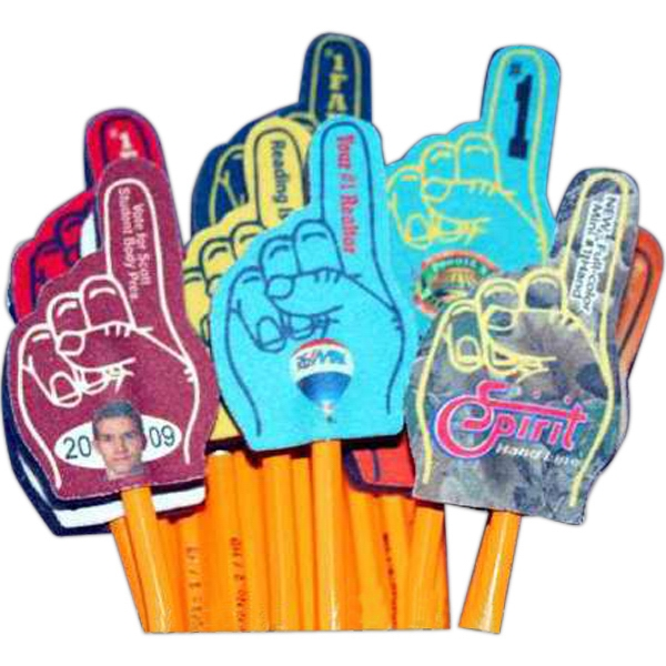 Customized Mini Number One Hand Pencil Topper