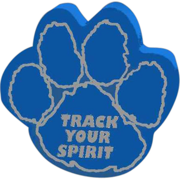 Imprinted Foam Paw Print with Outlined Pads Mitt