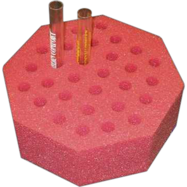 Personalized Foam Octagon Test Tube Rack