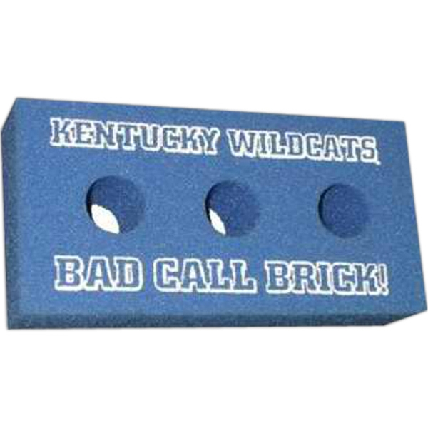 Imprinted Foam Brick with 3 Holes