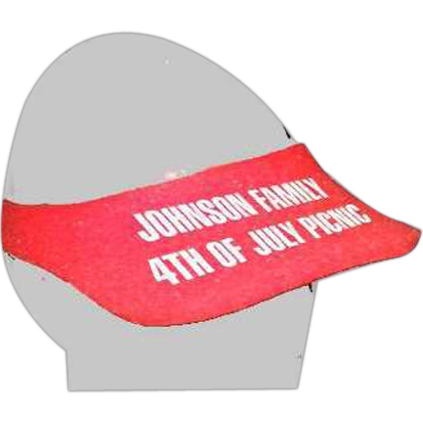 Printed Small Foam Visor Headwear