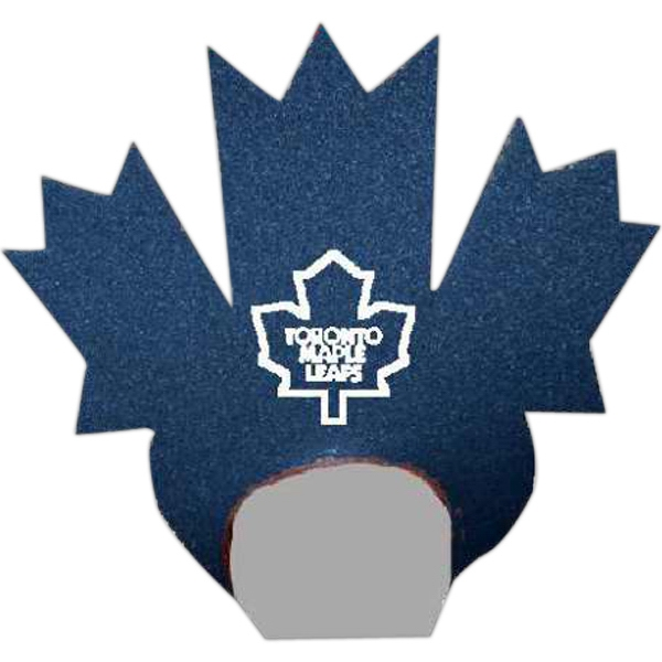 Imprinted Foam Maple Leaf Visor Headwear