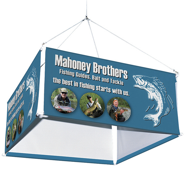 Promotional 4-Sided Hanging Banner Display