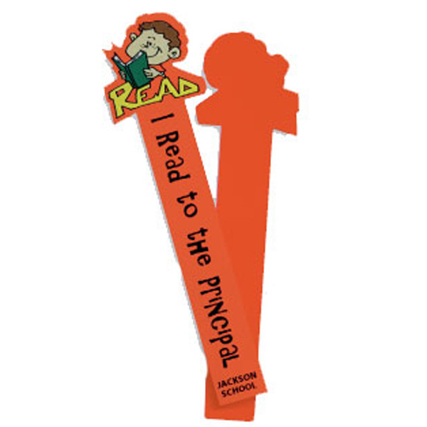 "Customized Polyester fabric bookmark, 2"" x 8"""