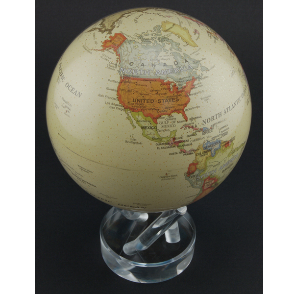 Promotional 4.5 Inch Mova Globe Antiqued Beige