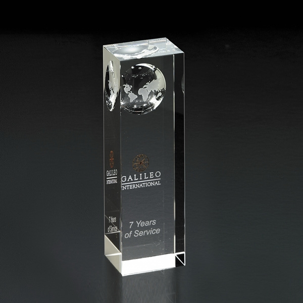 Customized Atlas Pillar Globe Medium Award