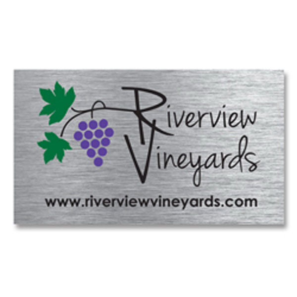 Personalized Brushed Silver Business Card Magnet