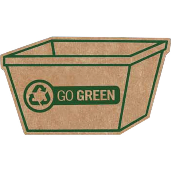 Personalized Corrugated Recycling Bin Magnet