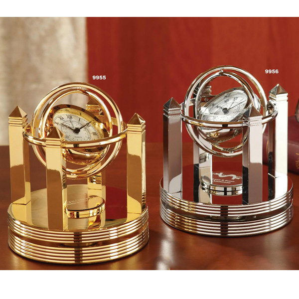 Imprinted Brass Galileo Gimbal Clock
