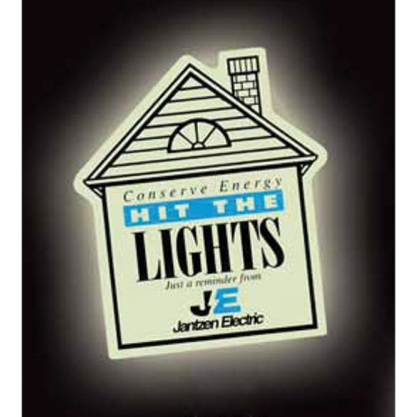 Printed Glow in the Dark House Magnet