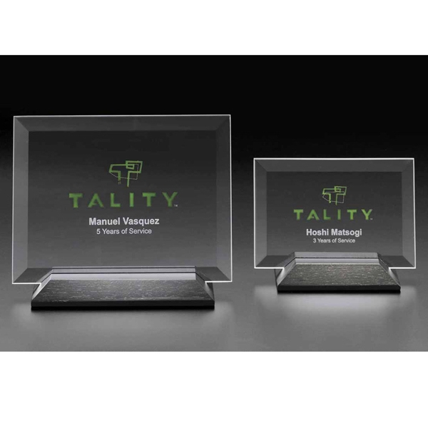 Personalized Epoch Horizontal Medium Glass Award