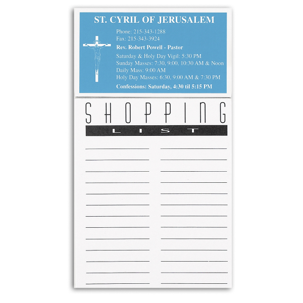 Customized 50 Sheet  Shopping List Magnet