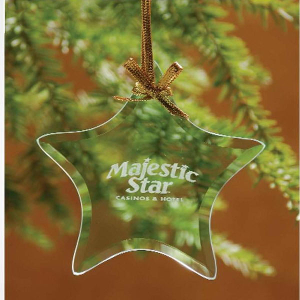 Printed Star Jade Glass Ornament