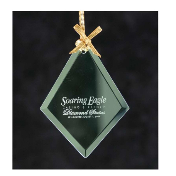 Promotional Diamond Jade Glass Ornament