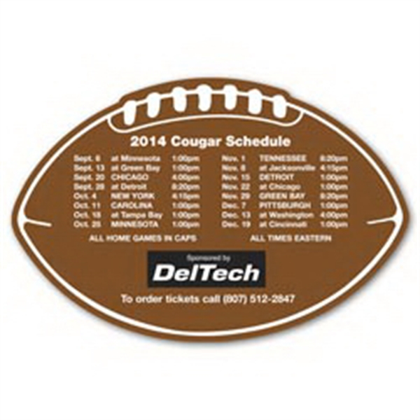 Personalized Schedule Football Magnet