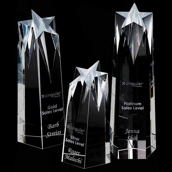 Promotional Shooting Star Small Optically Perfect Award
