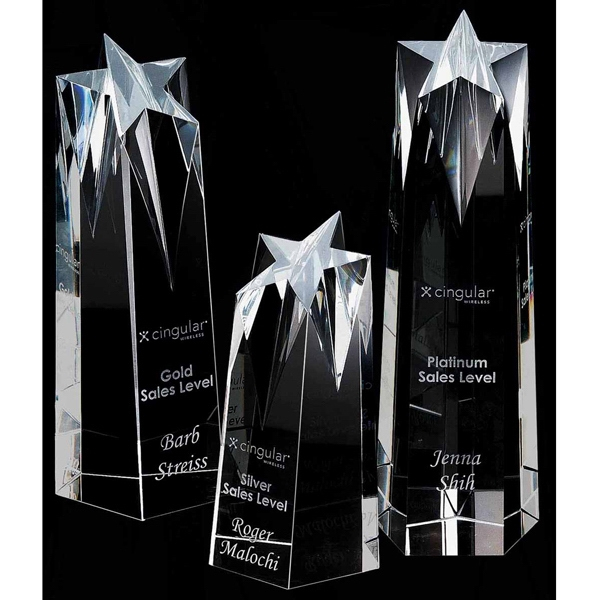 Personalized Shooting Star Medium Optically Perfect Award