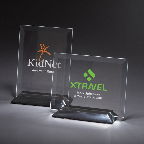 Imprinted Epoch Vertical Medium Glass Award