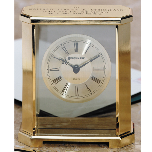 Custom Senator Brass Clock