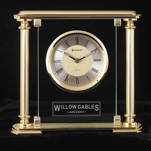 Printed Victoria Brass Desk Clock