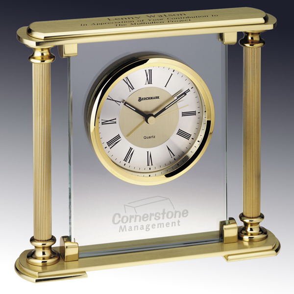 Promotional Prince Albert Brass Clock