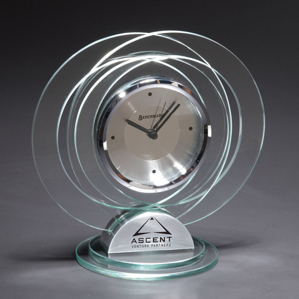 Customized Mediterranean Glass Clock