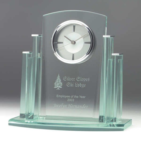 Printed Aden Jade Glass Clock