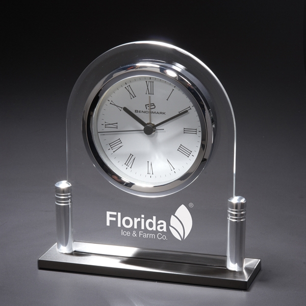 Personalized Tempus Normalis Acrylic Clock