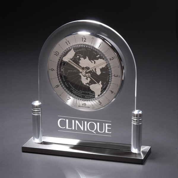 Personalized Tempus Mudus Acrylic Clock