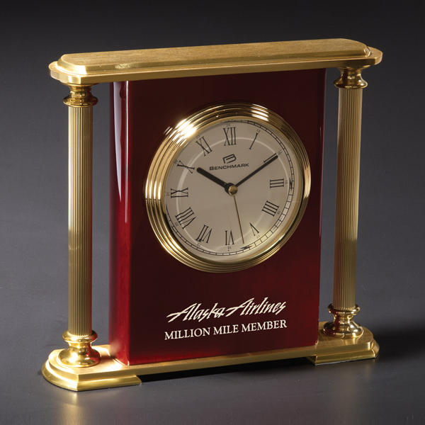 Personalized Westwood Brass Clock