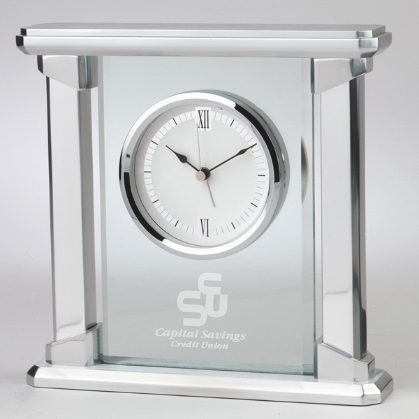 Printed Radiance Glass Clock