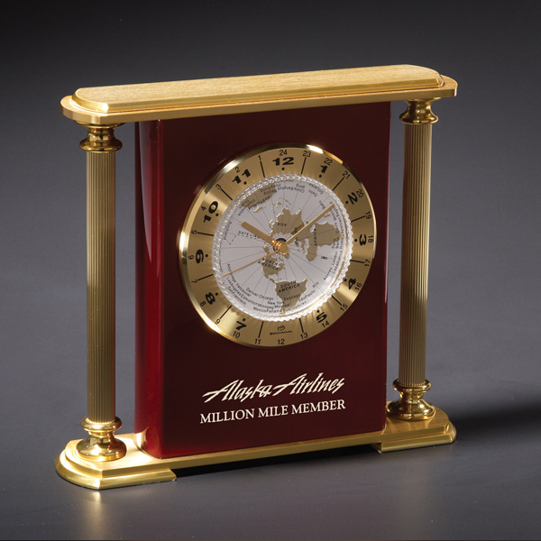 Personalized Seville Brass Clock
