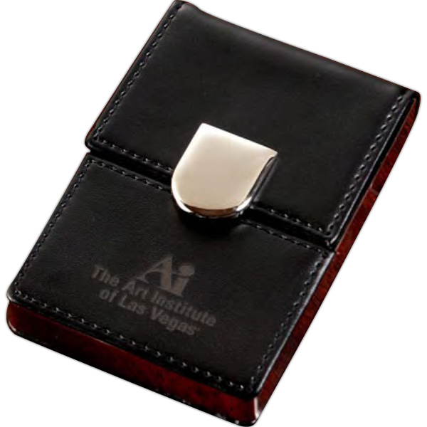 Imprinted Cairo Business Card Holder