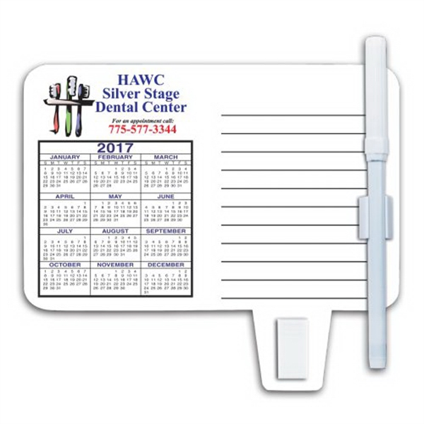 Imprinted Calendar / Memo Magnet with Clip