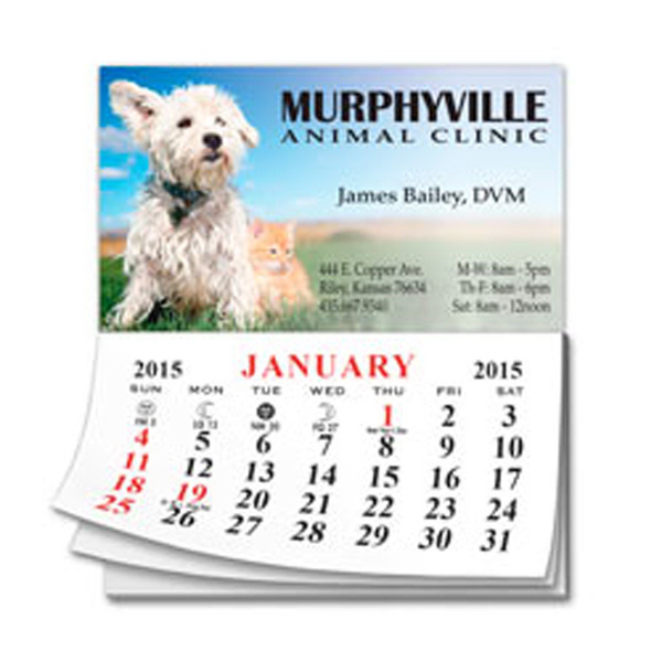 Custom Calendar Pad Business Card Magnet